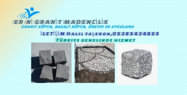 Er-ni Granit küptaş bazalt küptaş döşeme ekibi Halil